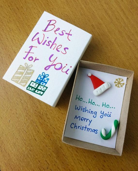 Weihnachtskarte Matchbox Gruß-Karte Frohe Weihnachten | Etsy