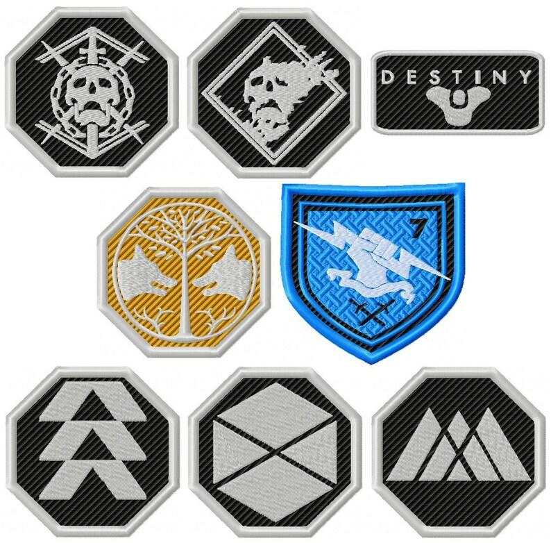 Schicksal Spiel Symbole Tod Elite Tod Schicksal Emblem Eisen Etsy