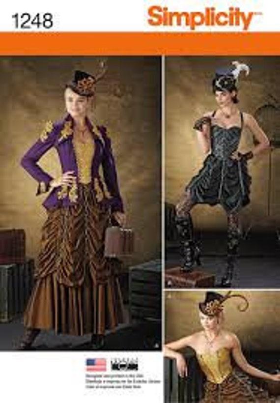 Schnittmuster Einfachheit 1248 Frauen Steam Punk Kostüm | Etsy