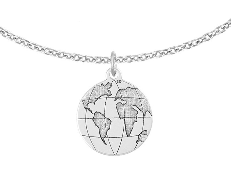 PASSION LAVOGApl globe BRACELET silver 925 earth