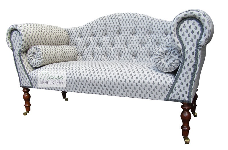 Retro 80\'s Tear Drop Double Ended Chaise Sofa ~FREE DELIVERY~*Handmade in  UK*