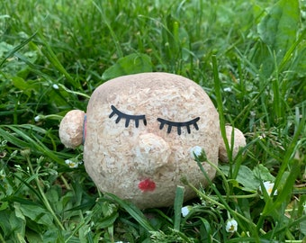 Handmade Grass Head, Female or Male, Farewell Gift or Thank You Teacher Gift, Educational Montessori Activity