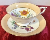 Paragon 1940 39 s double warranted peach with floral bouquet