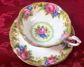 Paragon double warranted cup and saucer Tapestry Rose