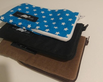 Phone case with zipper for 11.5 x 6 cm devices