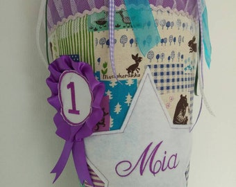Fabric - school bags with name stick for girls
