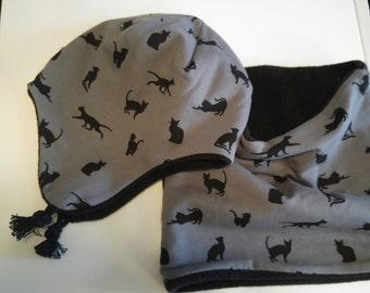 Grey Winter Cap Cats