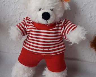 handgestrickter  Pullover  für Teddy Bär oder Puppe  türkis mit Pinguin Bärenbekleidung & Accessoires