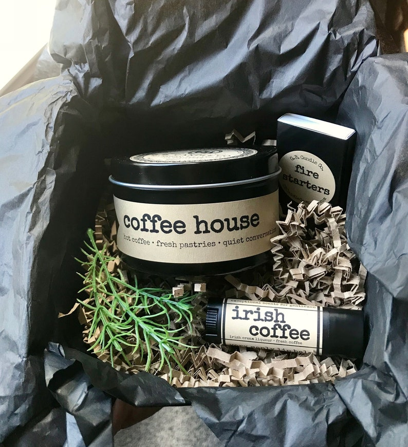 Coffee Lover Gift Box Candle Set Under 35 Free Gift Wrap Foodie Gift Idea