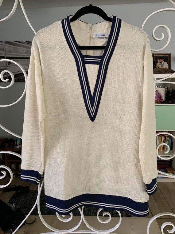 Vintage Sailor Sweater Mini Dress