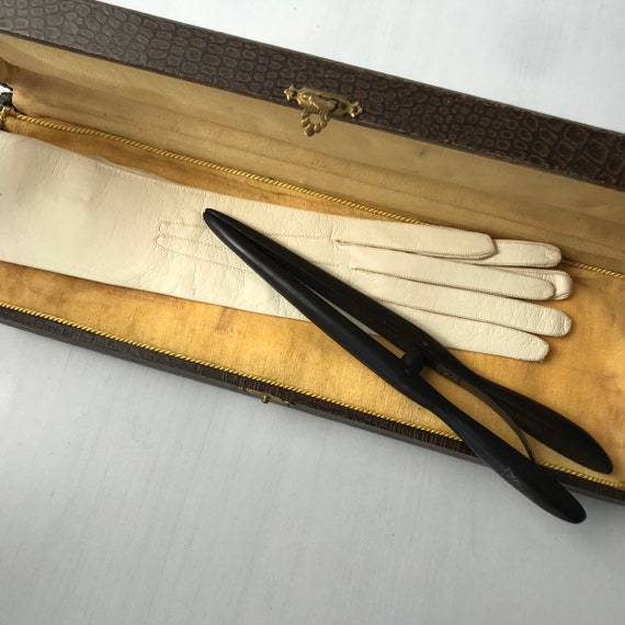 Beautiful antique french leather gloves from the 1