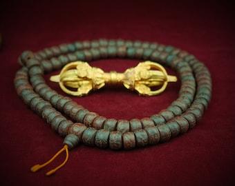 """Lotus Samen Halskette Mala /""""Tolle Qualität/"""" Nepal Buddhismus Gebet 7c 10 mm"""