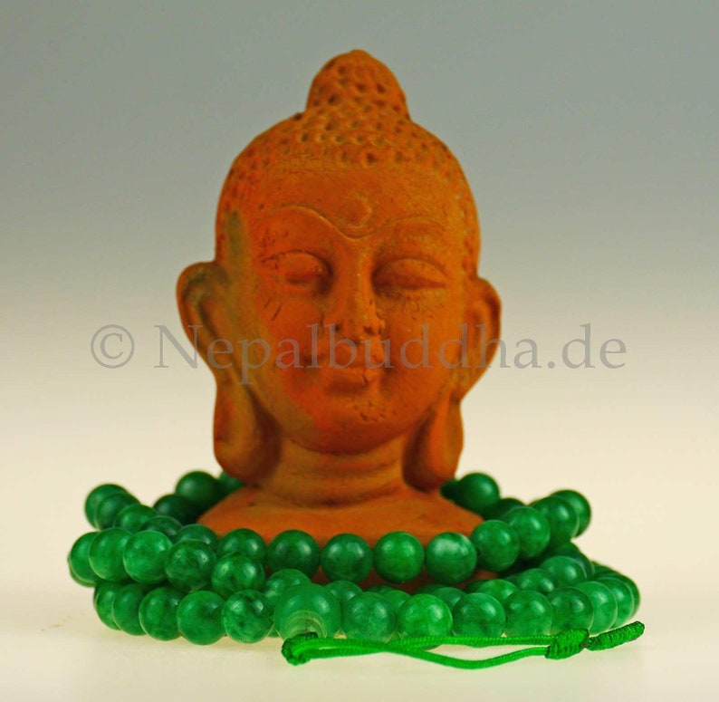 Jade Gems Jewelry Mala Buddha 117c