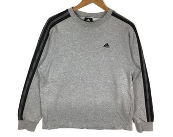 c5559e1714 ADIDAS EQUIPMENT Sweatshirt Adidas Side Tape Grey Colour Pullover Jumper  Hip Hop Swag Casual Trefoil Sportswear Sweater Sports Fashion