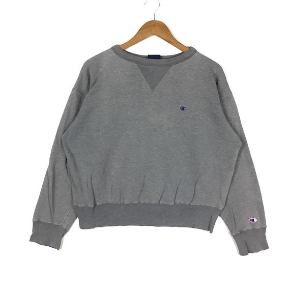 Vintage Sweatshirt Kids Champion Script Sweatshirt Size Medium Vintage Clothing Champion Sweatshirt