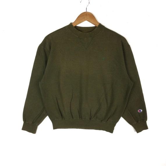 Vintage 90s Champion Sweatshirt Champion Basic Logo Crewneck Green Colour Small Size Pullover Jumper Hip Hop Swag Streetwear Lo Life