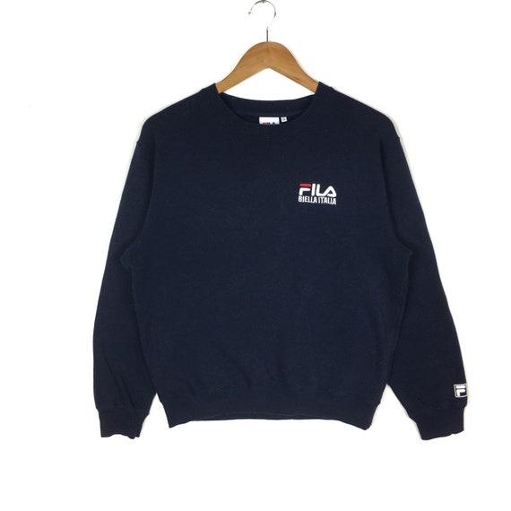 Vintage 90s FILA Sweatshirt Fila Small Logo Pullover Jumper Fila Crewneck Sweater Streetwear Sportswear Hip Hop Swag Lo Life
