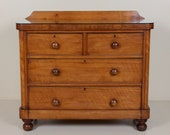 Antique Victorian Chest of Drawers Polished Satinwood Bedroom Chest