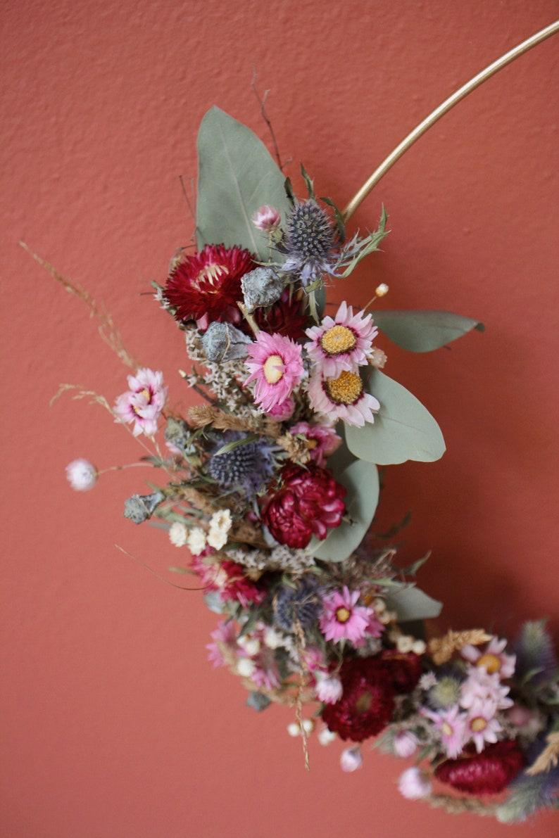 Floral Hoop aus Trockenblumen