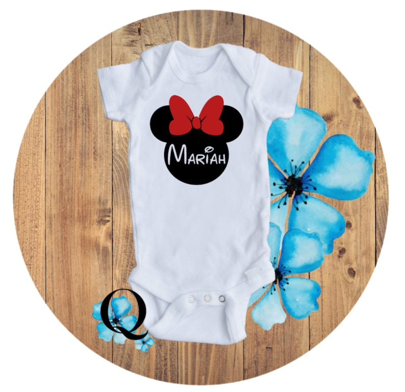 Silly Baby Girl Bodysuit Minnie Mouse Personalized Bodysuit Little Girls Shirts