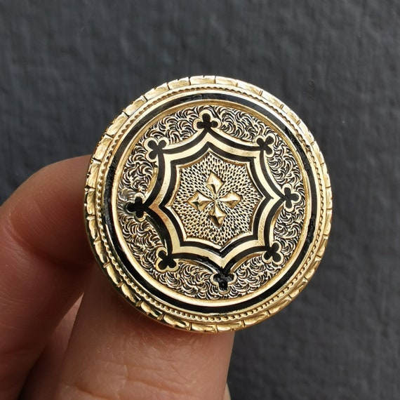 Antique 15ct Gold Enamel Brooch/Pendant