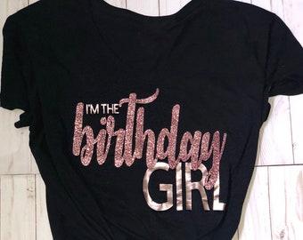 f61b26bca BIRTHDAY GIRL SHIRT | birthday t shirt | womems birthday shirt | girls  birthday shirt | birthday tee | birthday girl t shirt | Black Shirt