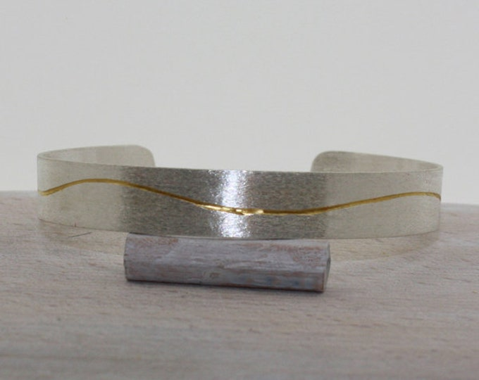 Bangle silver with gold