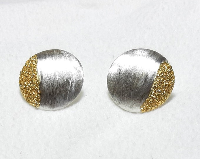 Studs silver with gold