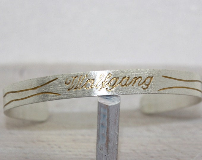 Bangle silver 935 with your name