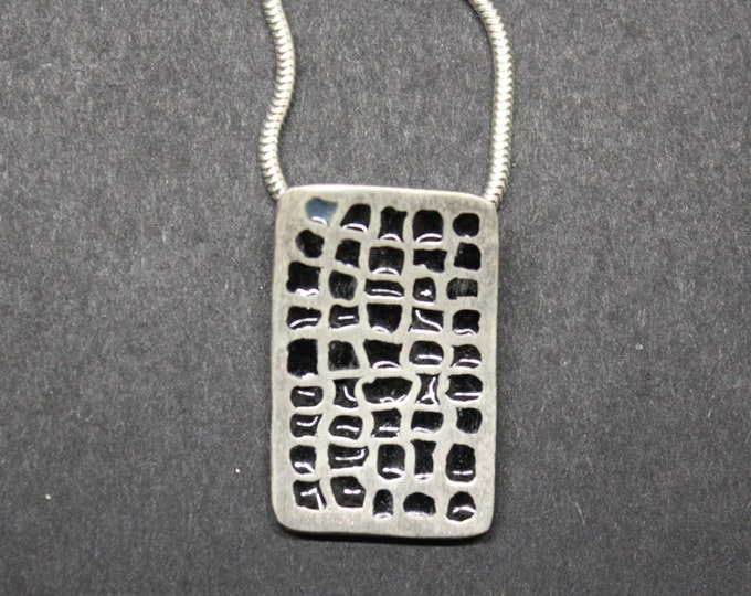 Pendant silver with email