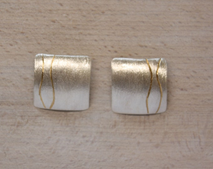 Ear clip silver with gold
