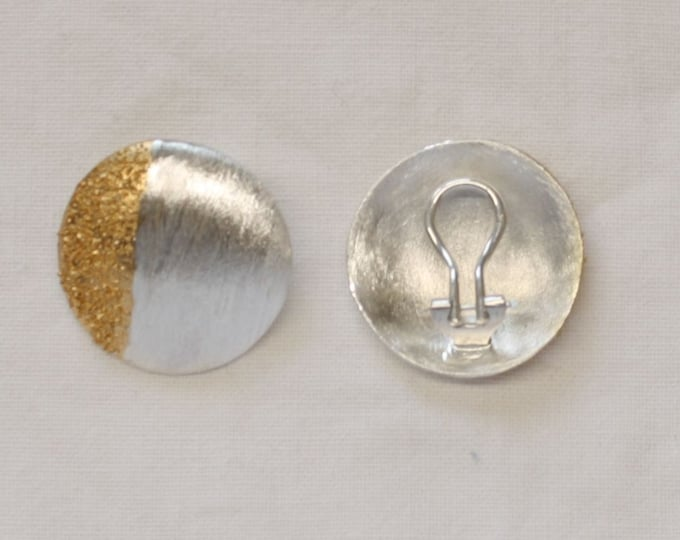 Earclip Silver with Gold