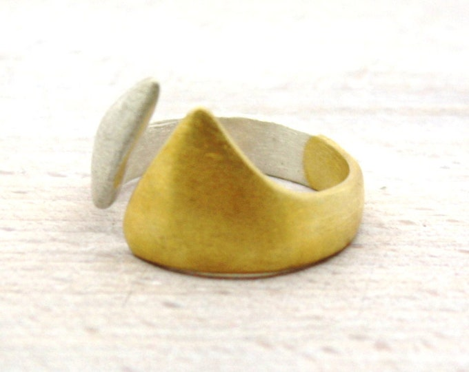 Ring silver 935 with fine gold