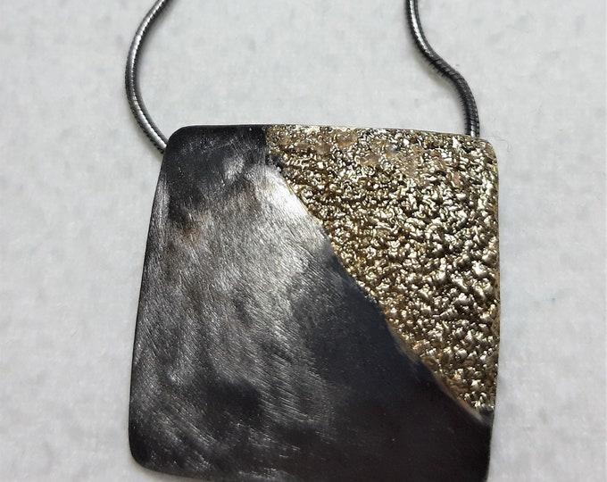 Pendant silver blackrhotiniert with gold