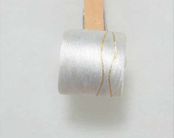 Ring Silver with Gold
