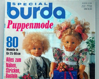 RARE !!! SPECIAL burda doll fashion E 338*80 models size. 25-90cm*sewing,knitting,handicrafts*Barbie fashion,puppet theater*M2018 41/95 /a05