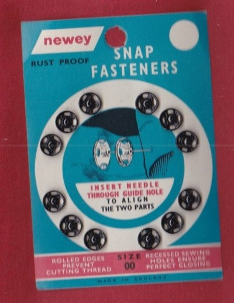 1950 k03 VINTAGE snap fasteners MIX black and silver ~ approx