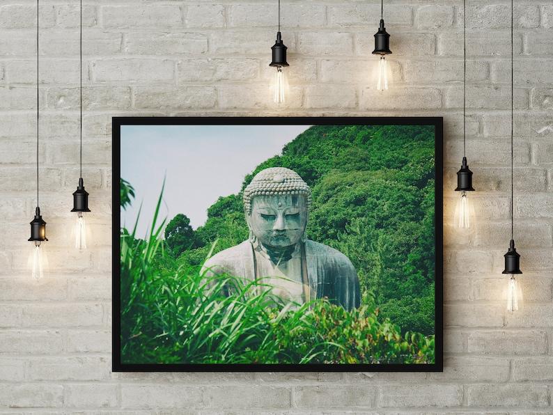 Poster Buddha Bouddha Zen Affiche Cadre Décoration Intérierue Etsy
