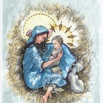 """Watercolor Painting """"Silent Night"""" *Giclee Print*"""