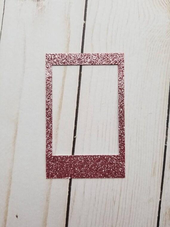 Instax Mini Glitter Frame Polaroid Glitter Frame Pink Etsy