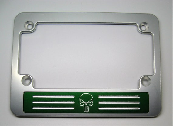 Punisher Billet Aluminum MOTORCYCLE License Plate Frame | Etsy