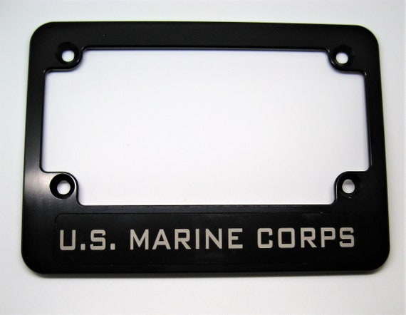 BSNP Hmc Billet Black Anodized Aluminum License Plate Frame