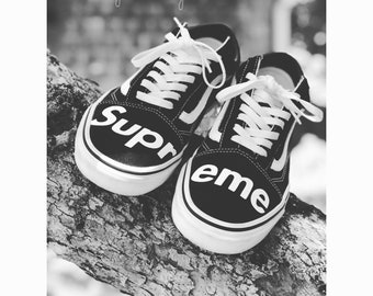 Custom Supreme Vans 855885921
