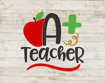 A+ Teacher / Teacher Decal / School Decal / Mug Decal / Teaching Decal / Teacher Sticker / Teacher Gift