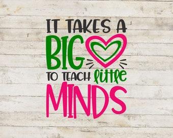 Big Heart To Teach Little Minds / Teacher Decal / School Decal / Mug Decal / Teaching Decal / Teacher Sticker