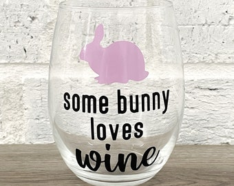 Animal Wine Glass Bunny Party Supplies Bunny Face Glitter Wine Glass Gift for Her Adult Easter Basket Rabbit Gift Bunny Lover Gift