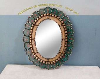 decorative wall mirrors square turquoise decorative wall mirror 20 mirrors etsy