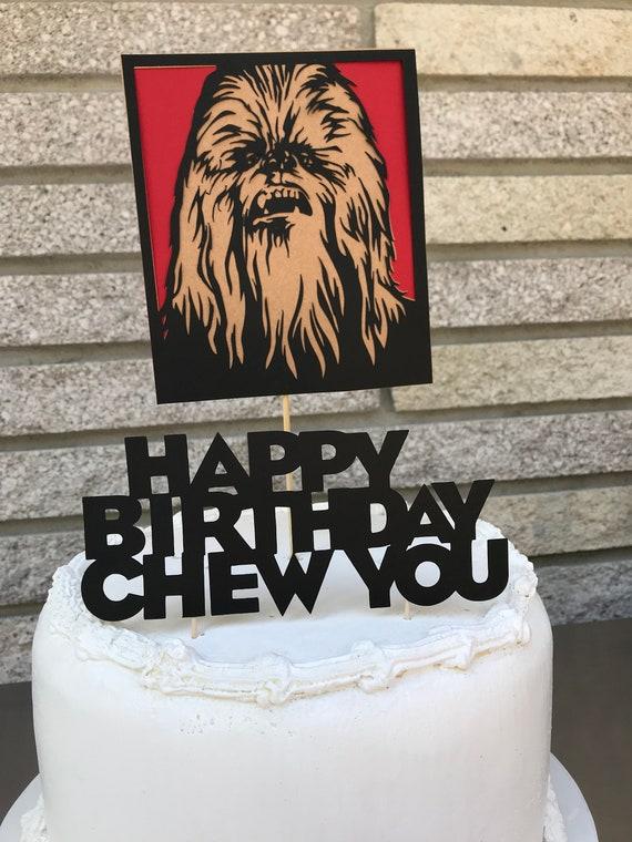 chewbacca cake topper etsy