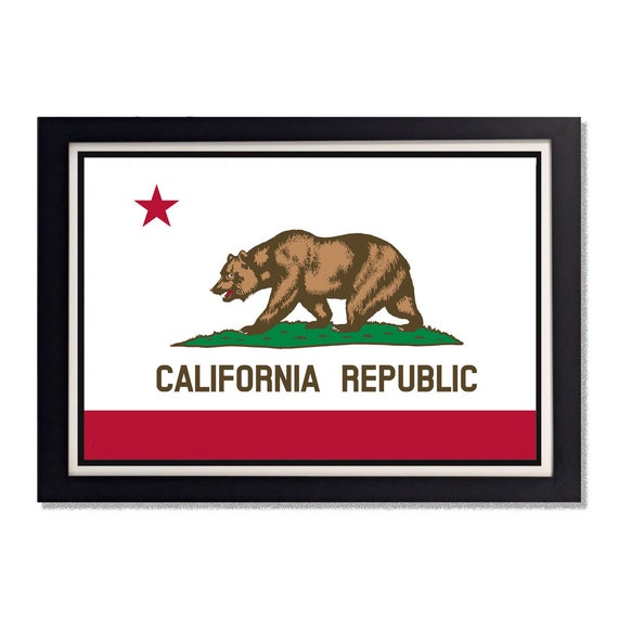 California State Flag Reproduction Poster 11x17in 24x36in