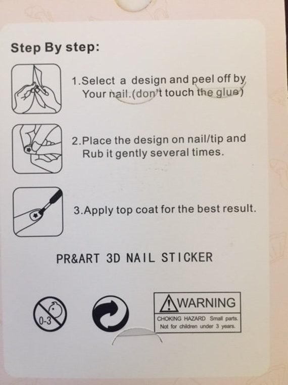 3D Nail Art Trending Stickers Louis Vuitton Gucci   Etsy